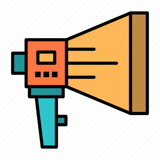 announce, digital, loudspeaker, marketing, megaphone, speaker, tool icon