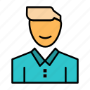 avatar, client, face, happy, man, person, user icon
