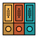archive, data, database, documents, files, folders icon