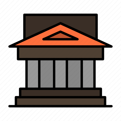 architecture, bank, building, court, estate, government, house, property icon