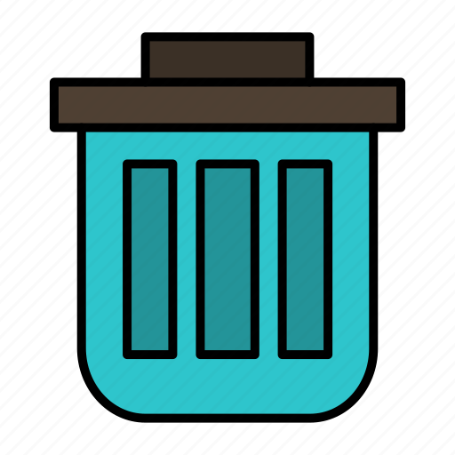 basket, bin, can, container, dustbin, office, trash icon