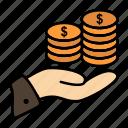 care, coin, economy, finance, guardar, money, save, savings icon