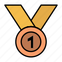 achieve, award, leader, medal, ribbon, win, winner