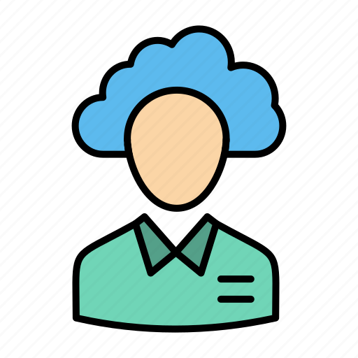 cloud, human, management, manager, outsource, people, resource icon