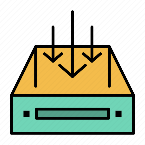 box, container, delivery, inbox, mail, parcel icon