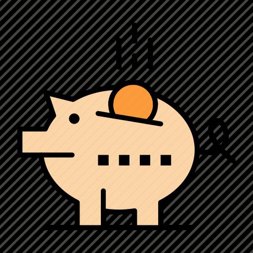 Economy, piggy, piggybank, safe, savings icon - Download on Iconfinder