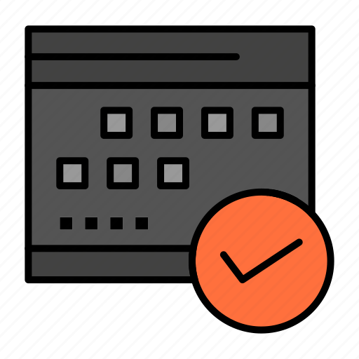 approved, business, calendar, event, plan, planning, schedule icon