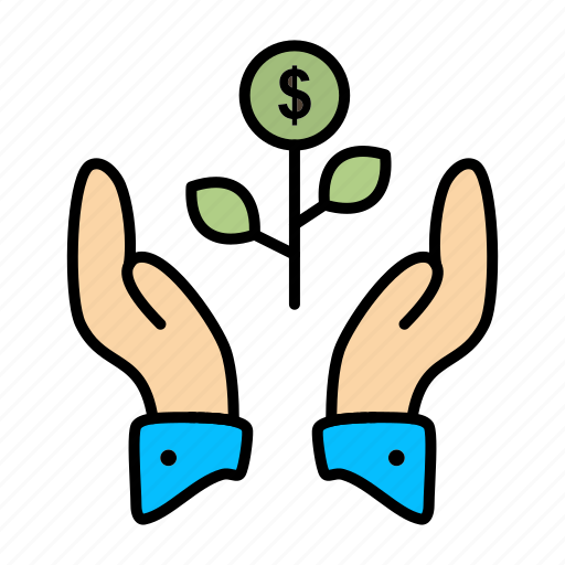 business, dollar, grow, growing, growth, plant, raise icon