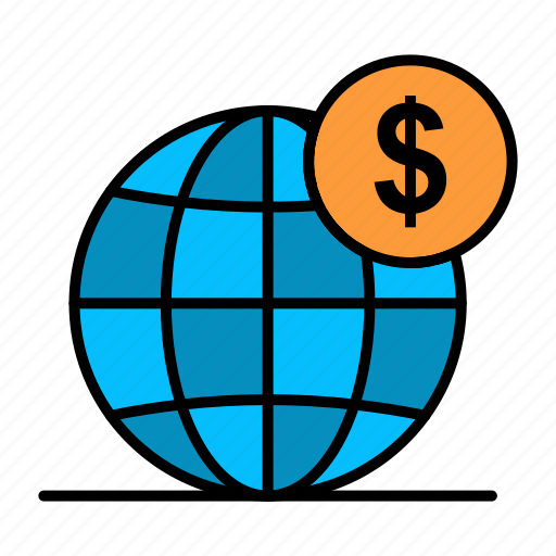 Business, dollar, global, globe, international icon - Download on Iconfinder