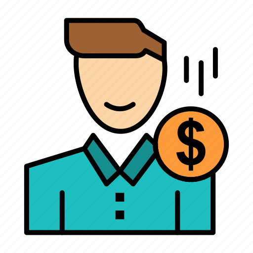 cost, fee, male, money, payment, salary, user icon