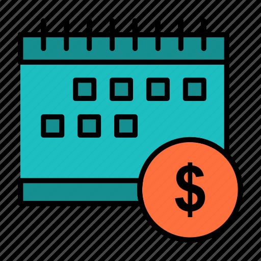 Banking, calendar, dollar, economic, money, time icon - Download on Iconfinder