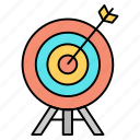 archery, arrow, board, target icon