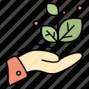 grow, growth, hand, success icon