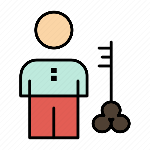 key, lock, man, person, provider, security, solution icon