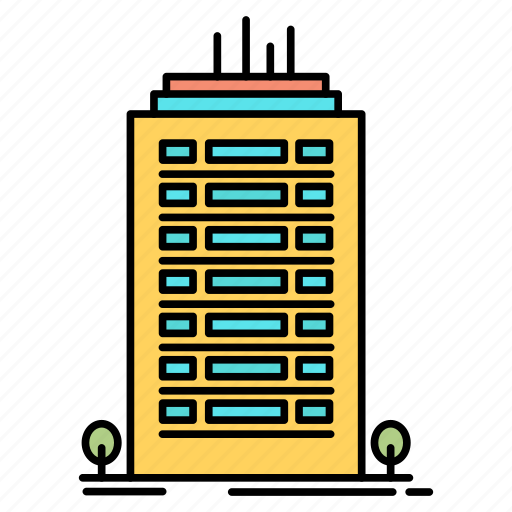 Bulding, office, skyscaper, tower icon - Download on Iconfinder