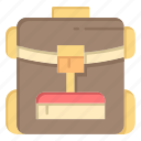 backbag, bag, hotel, service icon
