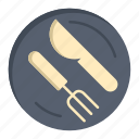 dish, knife, lunch, spoon icon