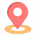 hotel, location, map, pin icon