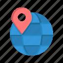 globe, internet, location, map