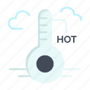 hot, temperature, update, weather icon