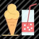 cream, drink, ice, juice, summer