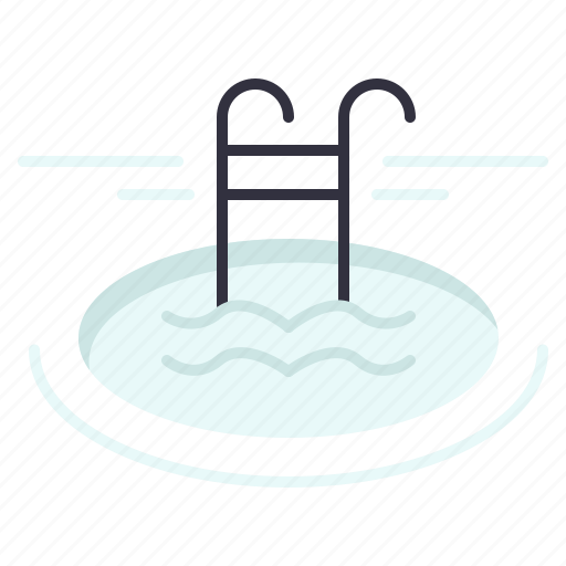 hotel, pool, serves, swimming icon