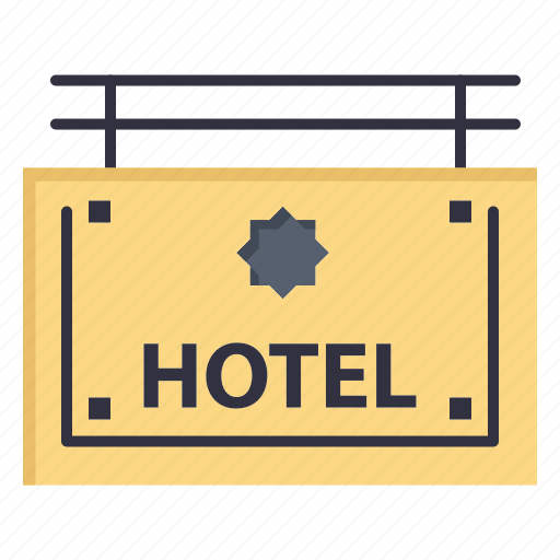 board, direction, hotel, sign icon