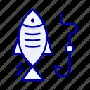fish, fishing, hook, hunting