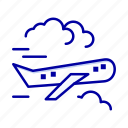 air, airplane, fly, plane icon
