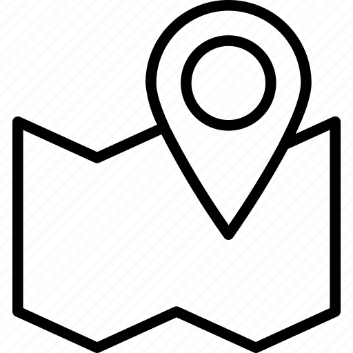 gps, location, marker, pin icon