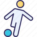 football, kick, match, player icon