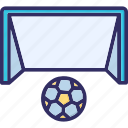 game, goal, net, play icon