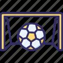 game, goal, goal net, net icon