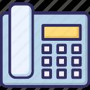 call, fax, landline, phone icon