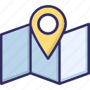 location pin, location pointer, map, navigation icon