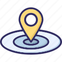 location, location pin, marker, pointer icon