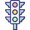 signal lights, traffic lights, traffic semaphore, traffic signals icon