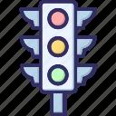signal lights, traffic semaphore, traffic lights, traffic signals icon