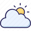 climate, cloud, cloudy day, sun icon