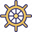 boat controller, boat steering, boat wheel, nautical icon