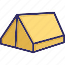 camp, camping tent, journey, tent, tent house icon