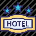 hotel destination, hotel ranking, hotel rating, three star icon