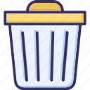 dustbin, garbage, recycle bin, trash icon