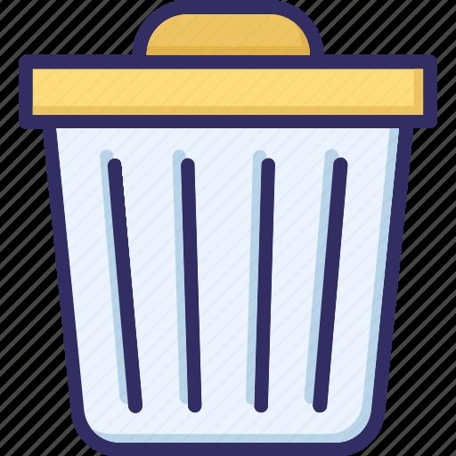 dustbin, garbage, recycle bin, trash icon