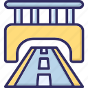 bridge, highway, journey, path icon