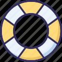 life donut, life preserver, lifebelt, lifebuoy icon