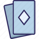 casino, casino card, diamond card, play card icon