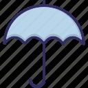 parasol, rain protection, sun shade, umbrella icon
