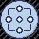 boat wheel, crosshair, reticle, ship wheel icon