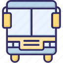 bus, journey, public bus, transport icon